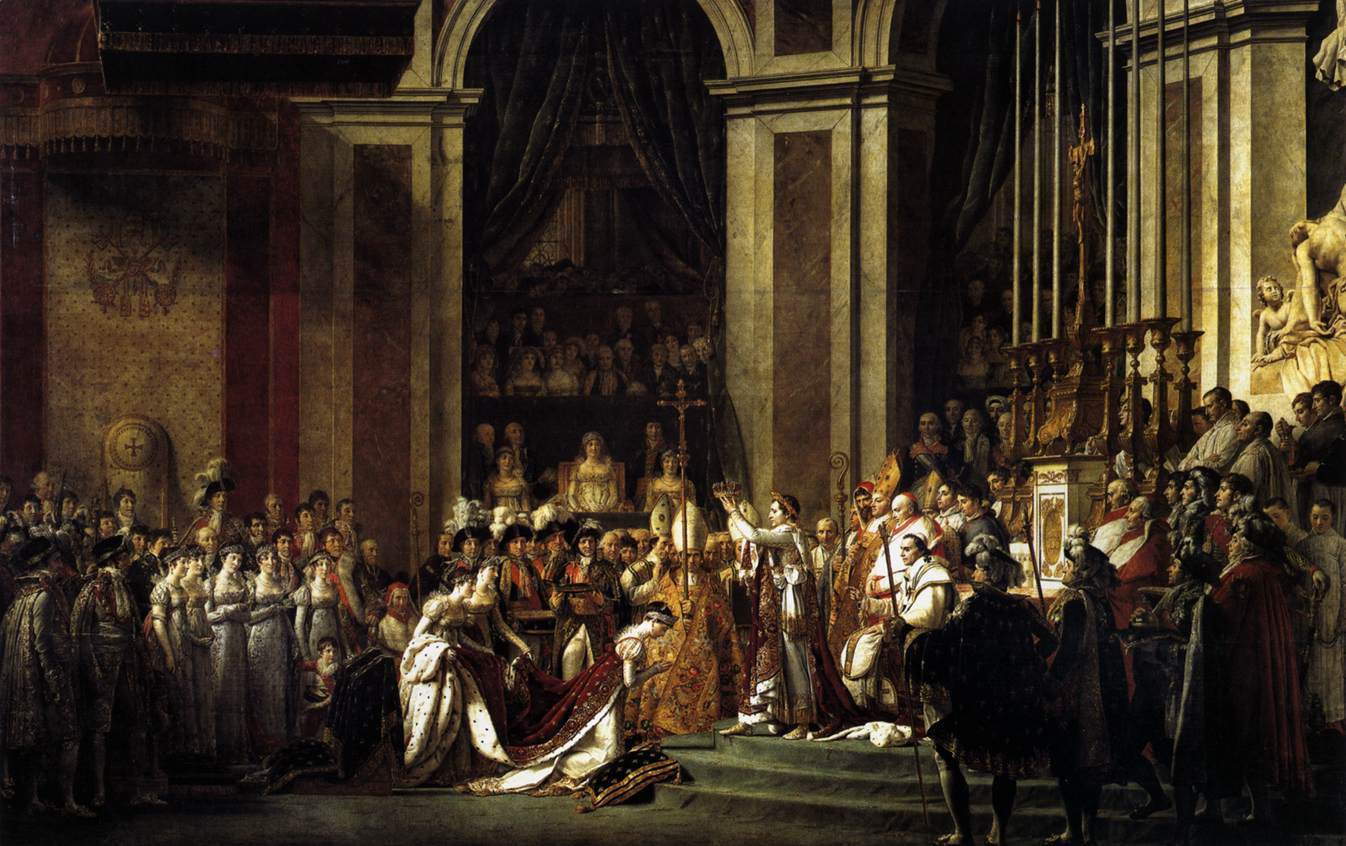 Consecration of the Emperor Napoleon I and Coronation of the Empress Josephine :: Jacques-Louis David - History painting ôîòî