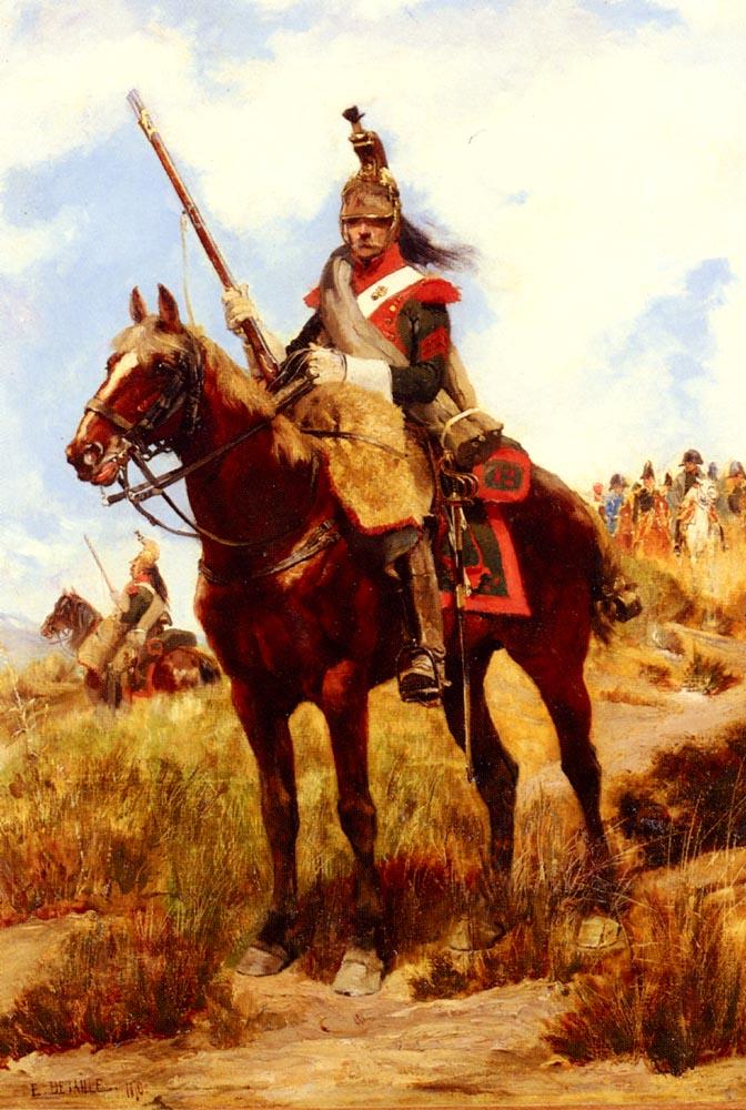 A Rank Soldier of the 12th Dragon Regiment en vedette :: Jean Baptiste Edouard Detaille  - History painting ôîòî