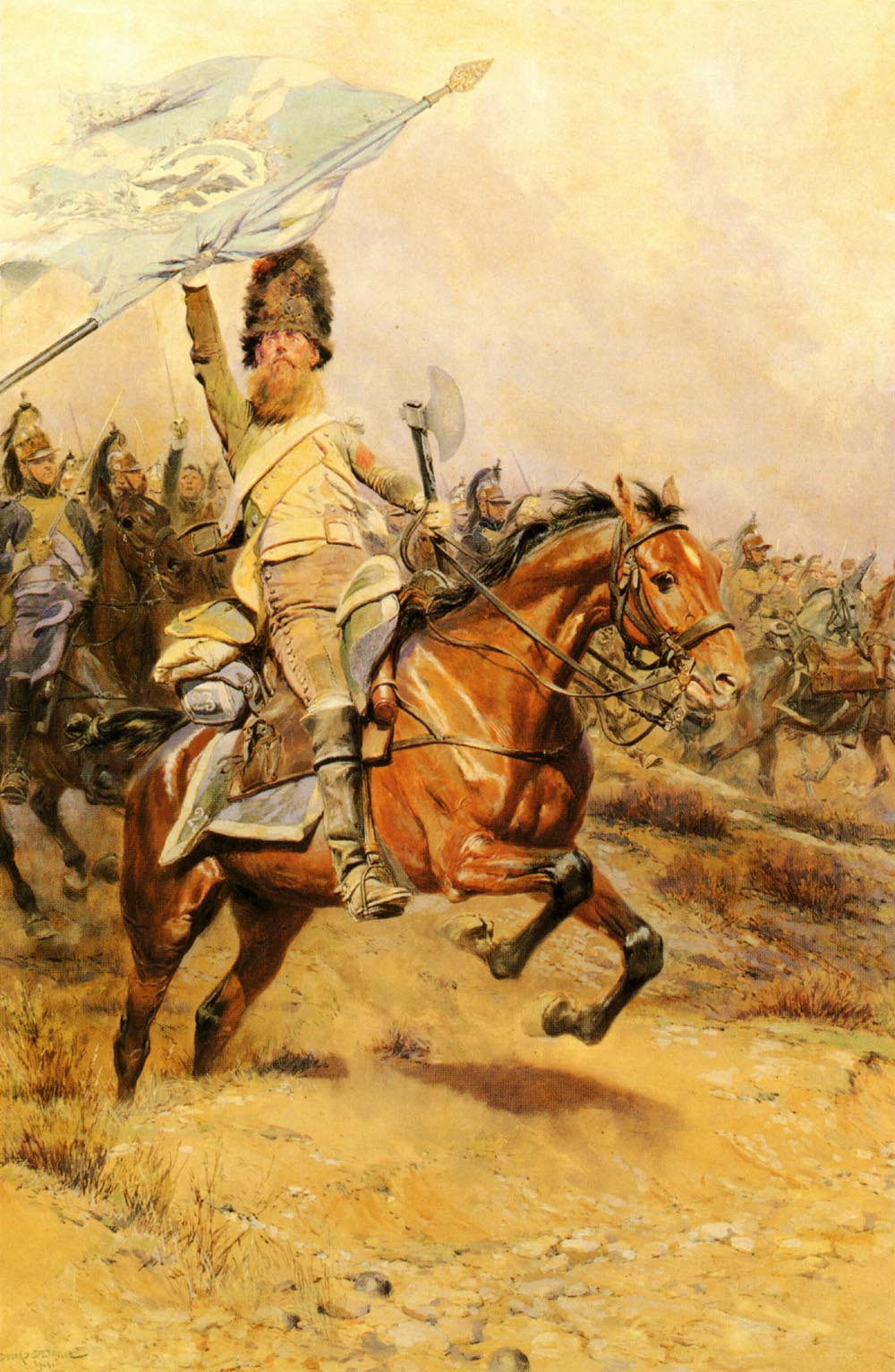 The Charge :: Jean Baptiste Edouard Detaille - History painting ôîòî