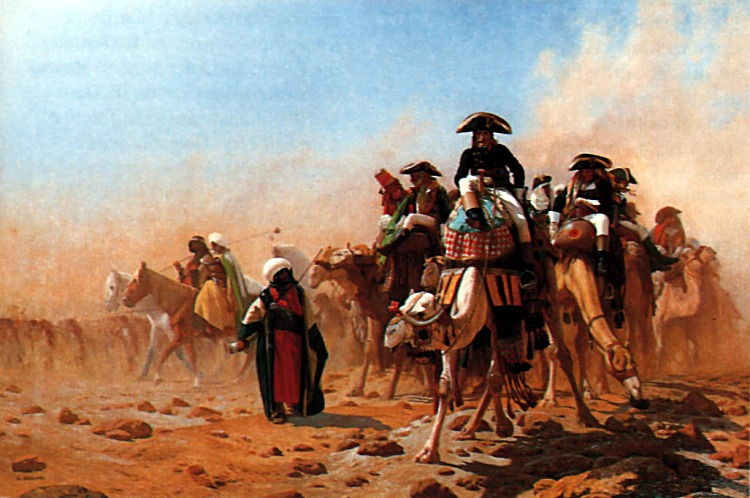 Napolean and his General Staff in Egypt :: Jean-Leon Gerome  - History painting ôîòî