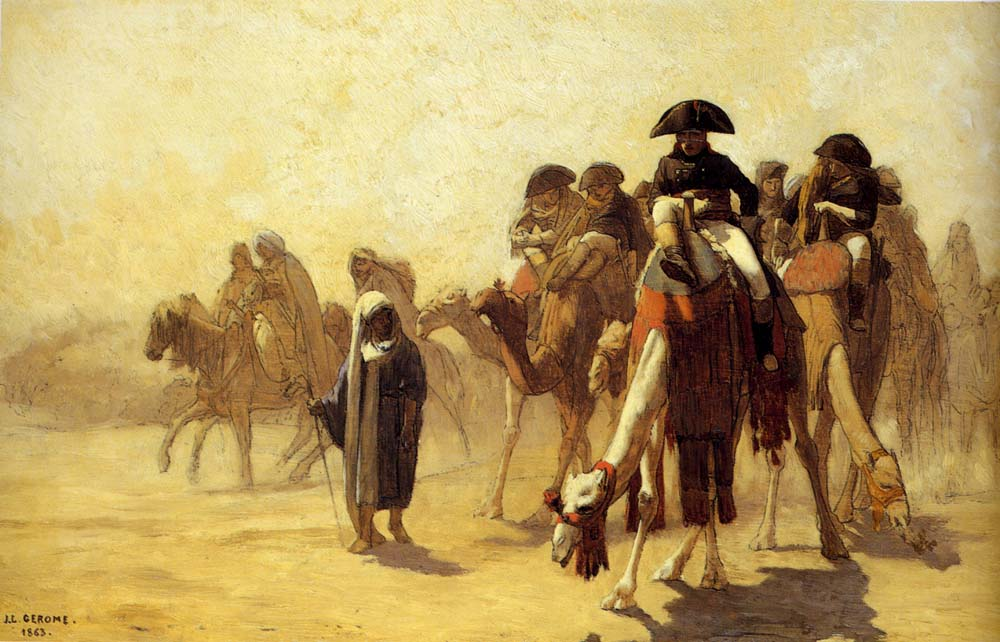 General Bonaparte With His Military Staff In Egypt  :: Jean-Leon Gerome - History painting ôîòî