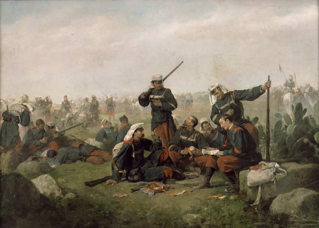 The rest in the march :: Jose Benlliure y Gil - History painting ôîòî
