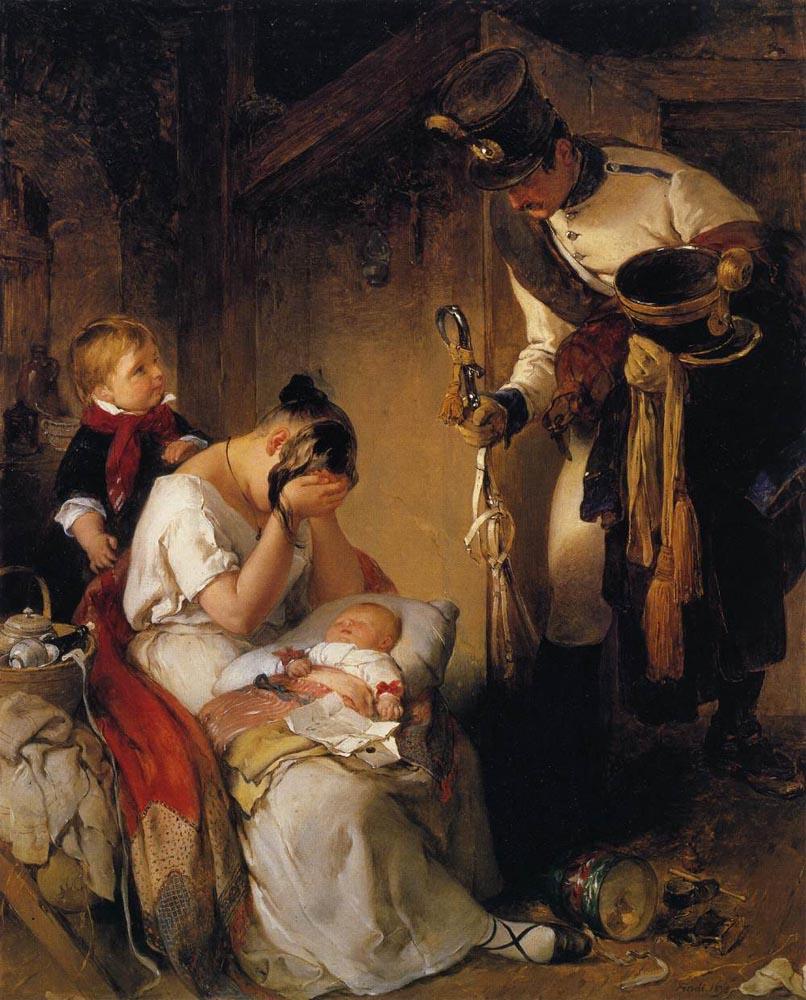 The Sad Message :: Peter Fendi - History painting ôîòî
