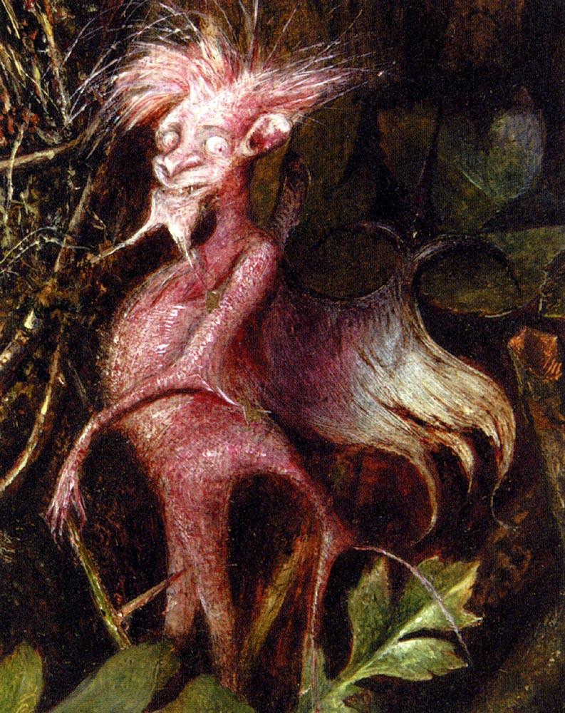 Fairies In A Bird's Nest (detail 4) :: John Anster Fitzgerald  - Fantasy in art and painting ôîòî
