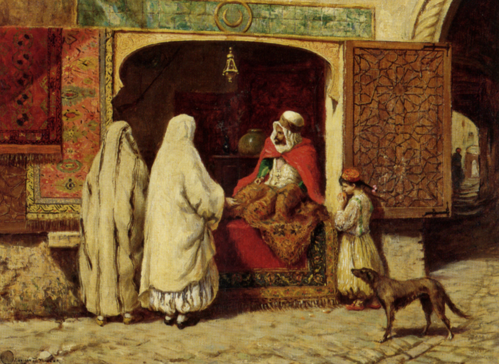 The Rug Merchant  :: Addison Thomas Millar  - scenes of Oriental life (Orientalism) in art and painting ôîòî