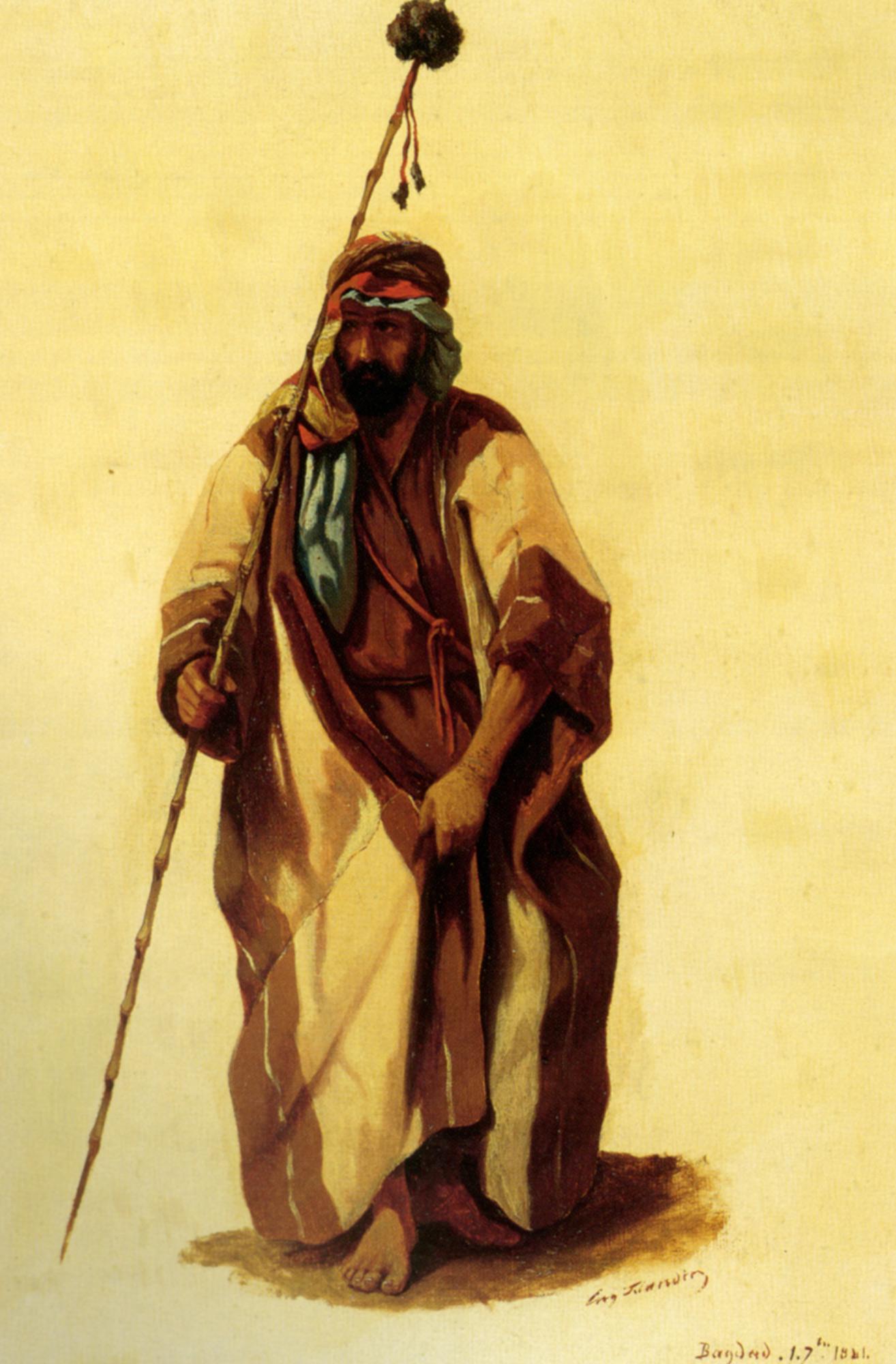 A Man From Bagdad :: Eugene Napoleon Flandin  - scenes of Oriental life (Orientalism) in art and painting ôîòî