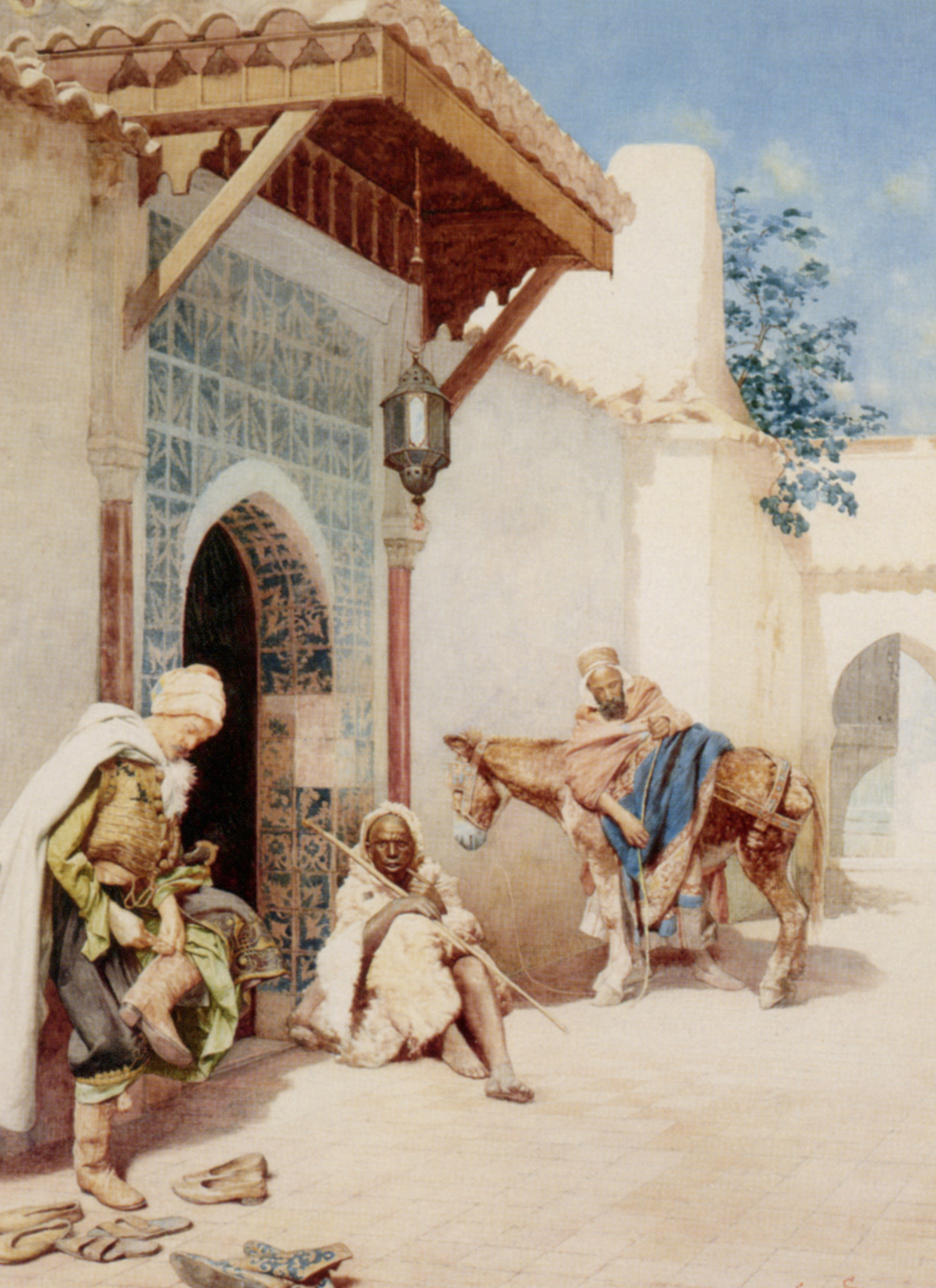 Making Ready for the Road :: Guiseppe Signorini - scenes of Oriental life (Orientalism) in art and painting ôîòî