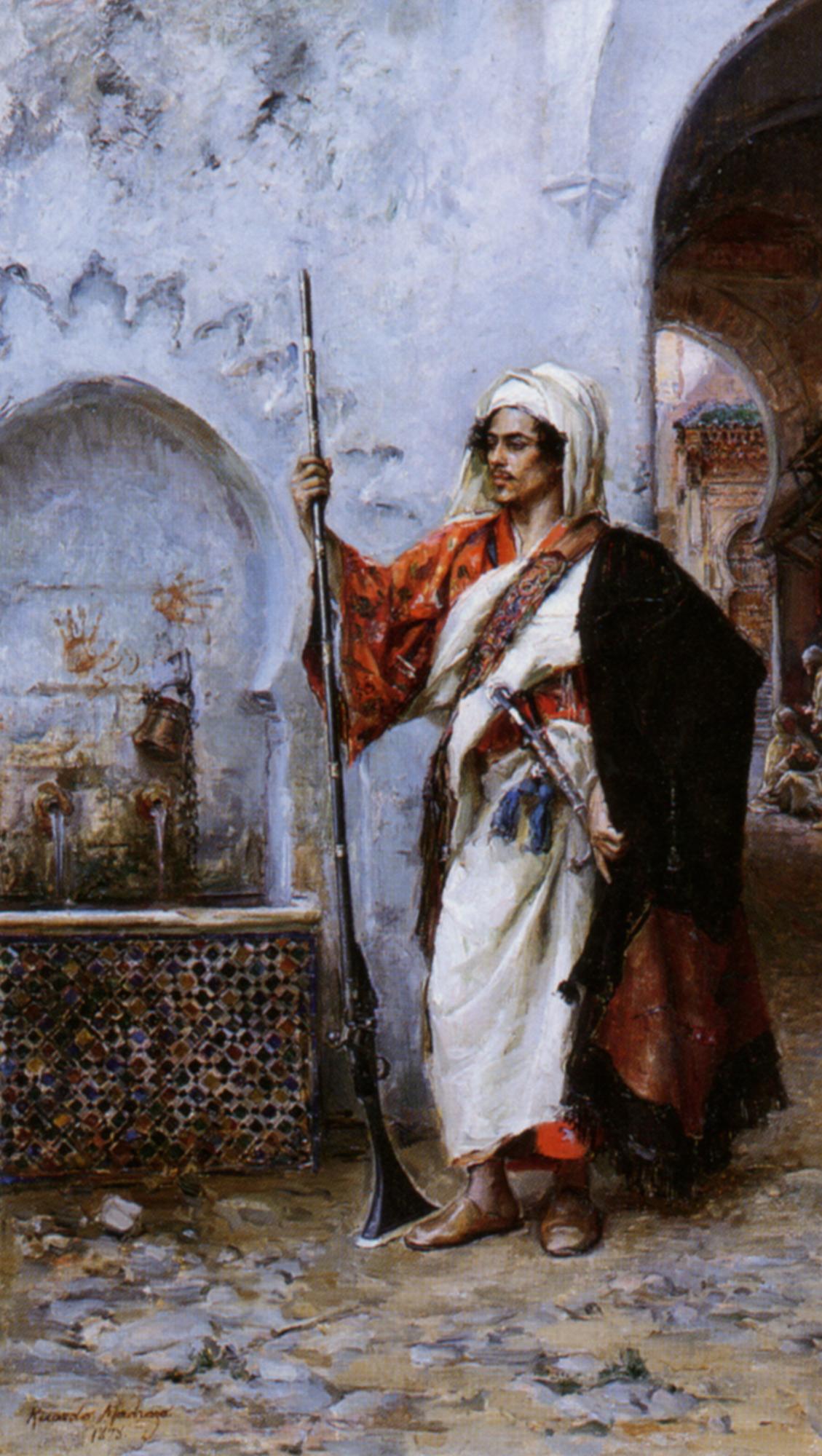 Arab Warrier :: Raimundo de Madrazo y Garreta  - scenes of Oriental life (Orientalism) in art and painting ôîòî