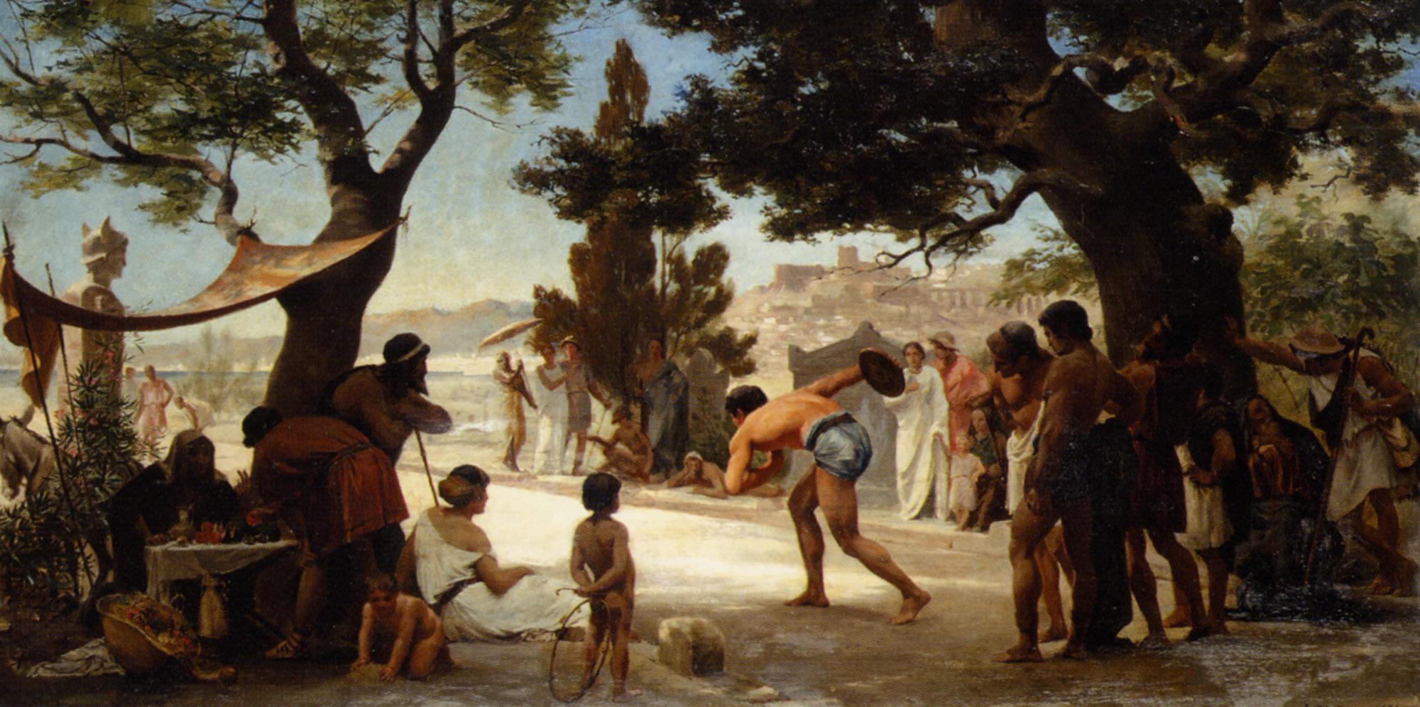 The Discus Thrower :: Edouard Dantan - Antique world scenes ôîòî