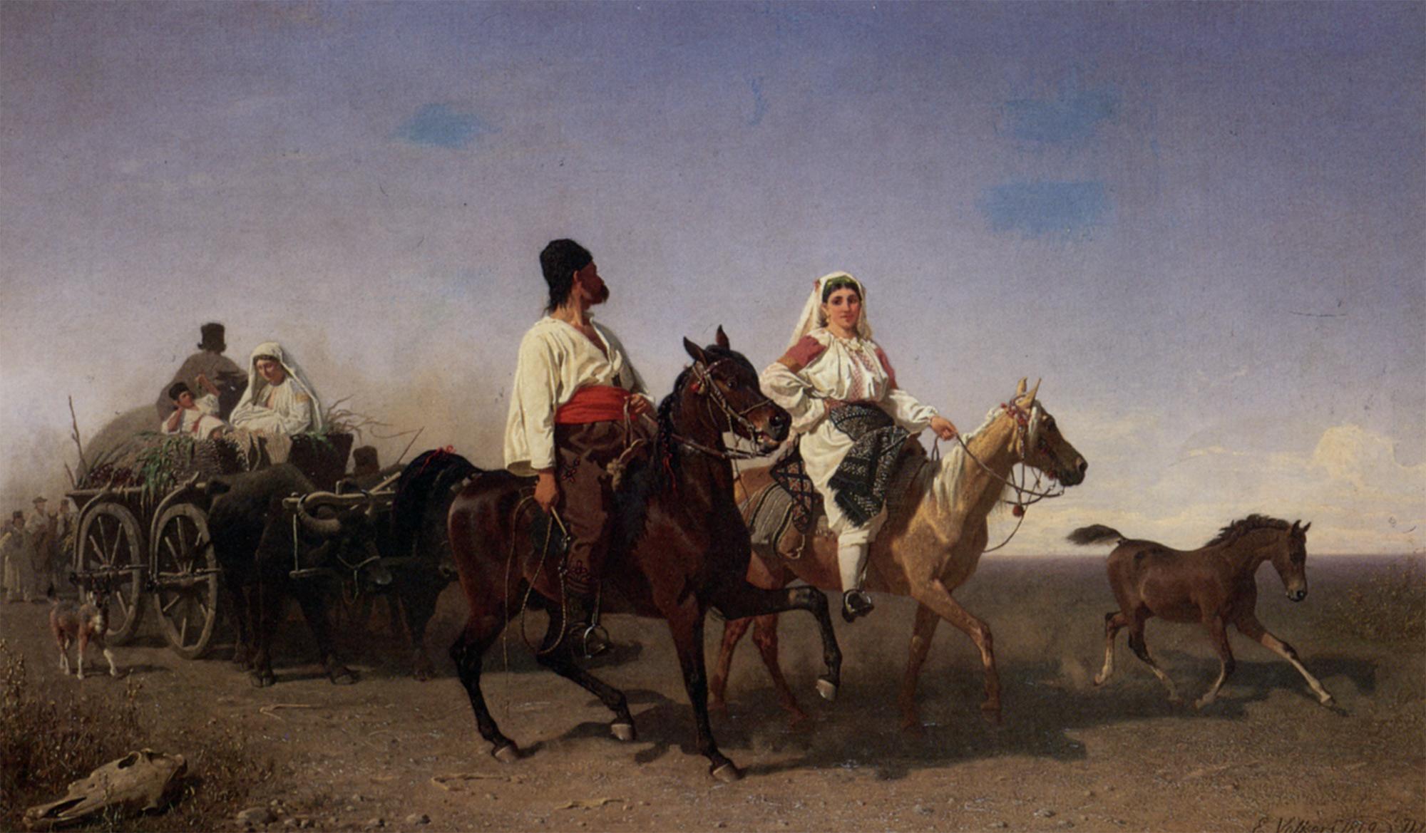 The Gypsy Caravan :: Emil Volkers - Horses in art ôîòî