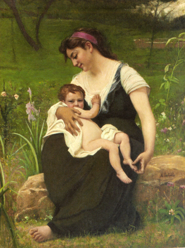 Maternite :: Francois Alfred Delobbe - Woman and child in painting and art ôîòî