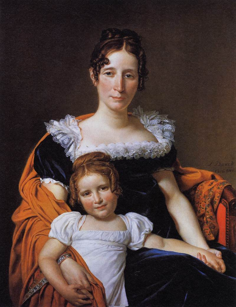 Portrait of the Comtesse Vilain XIIII and her Daughter :: Jacques-Louis David  - Woman and child in painting and art ôîòî