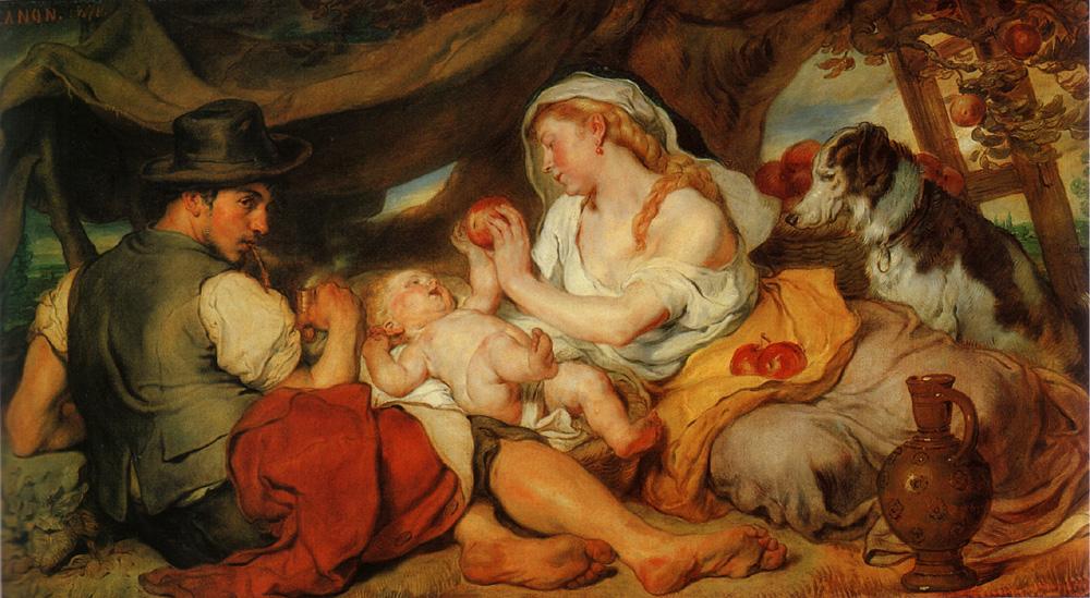 Mittagsruhe :: Johann von Straipka Canon  - Woman and child in painting and art ôîòî