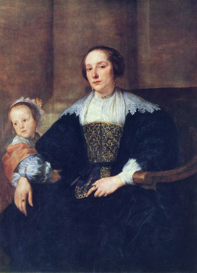 The Wife and Daughter of Colyn de Nole :: Sir Antony van Dyck - Woman and child in painting and art ôîòî