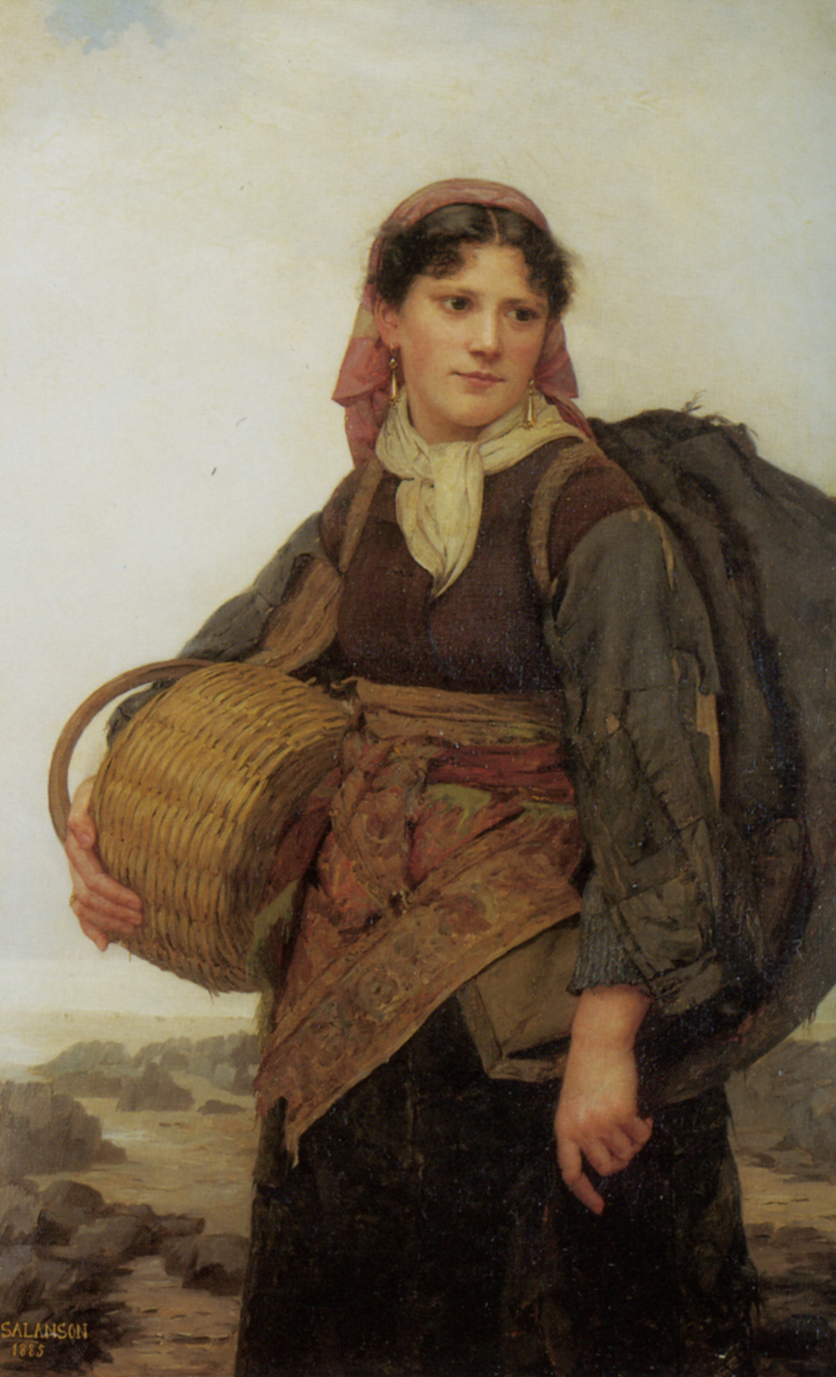 The Fishergirl :: Eugenie Marie Salanson - 7 female portraits ( the end of 19 centuries ) in art and painting ôîòî