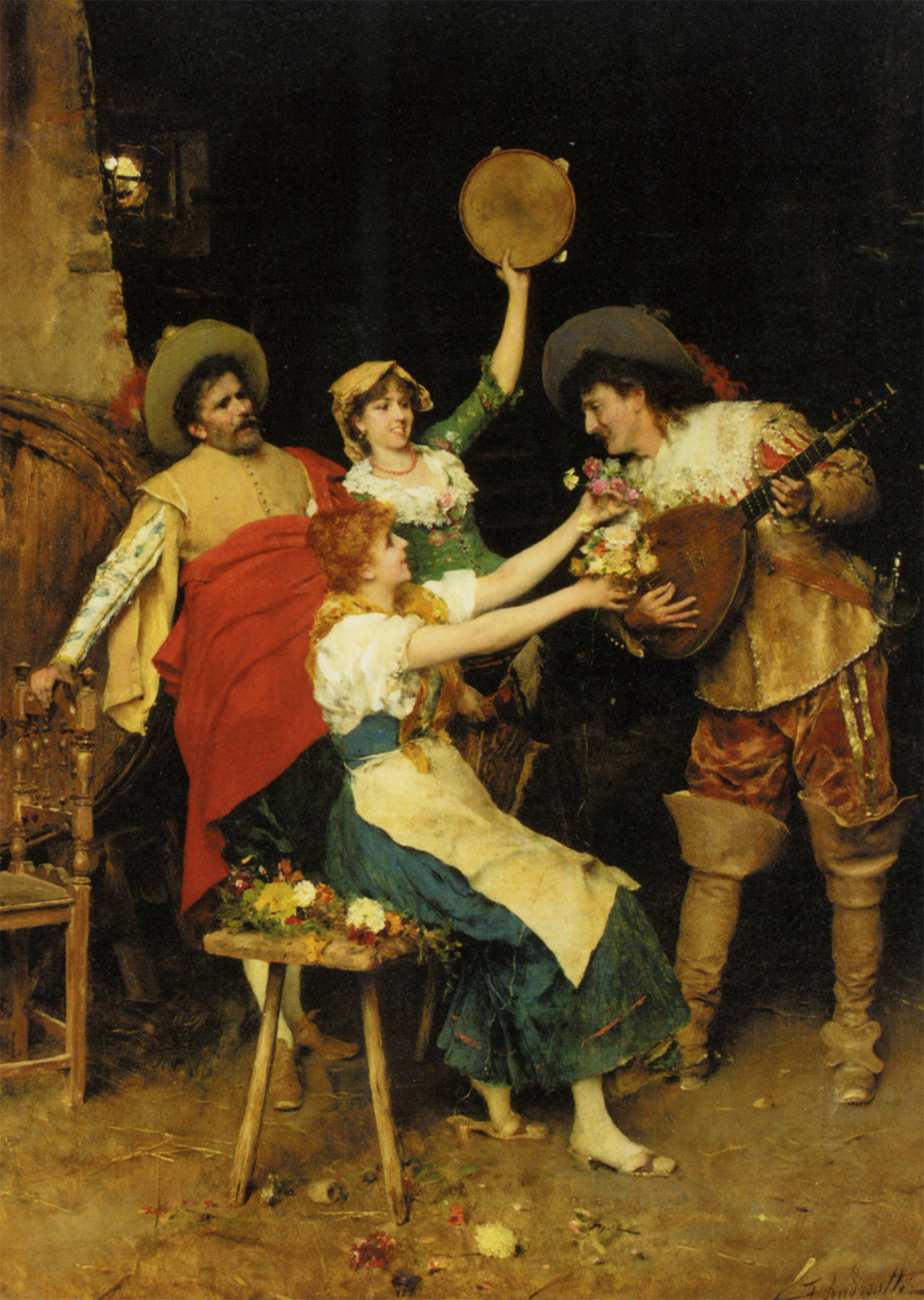 Flowers for Music :: Federico Andreotti - Romantic scenes in art and painting ôîòî