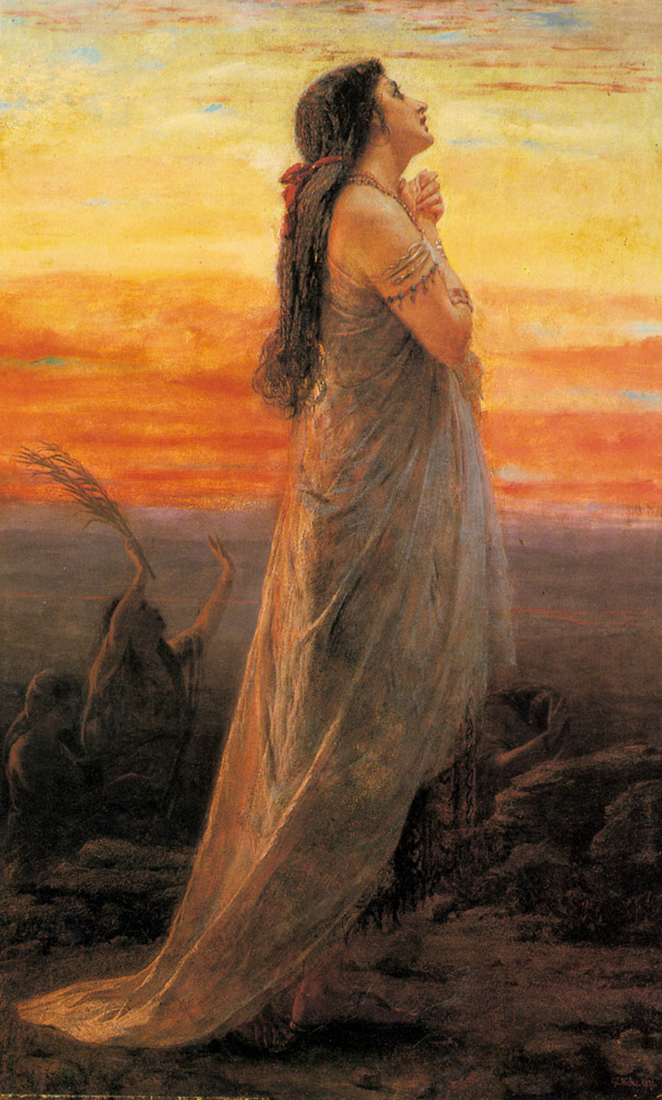 The Lament of Jephthah's Daughter :: George Elgar Hicks - Bible scenes in art and painting ôîòî