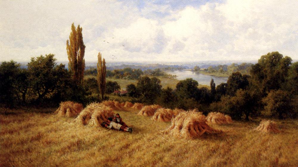 A Corn Field, Chertsey-On-Thames, Surrey :: Henry Hillier Parker - Summer landscapes and gardens ôîòî