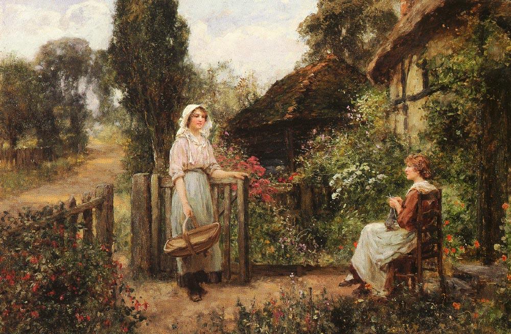 Friendly Neighbors :: Henry John Yeend King - Village life ôîòî