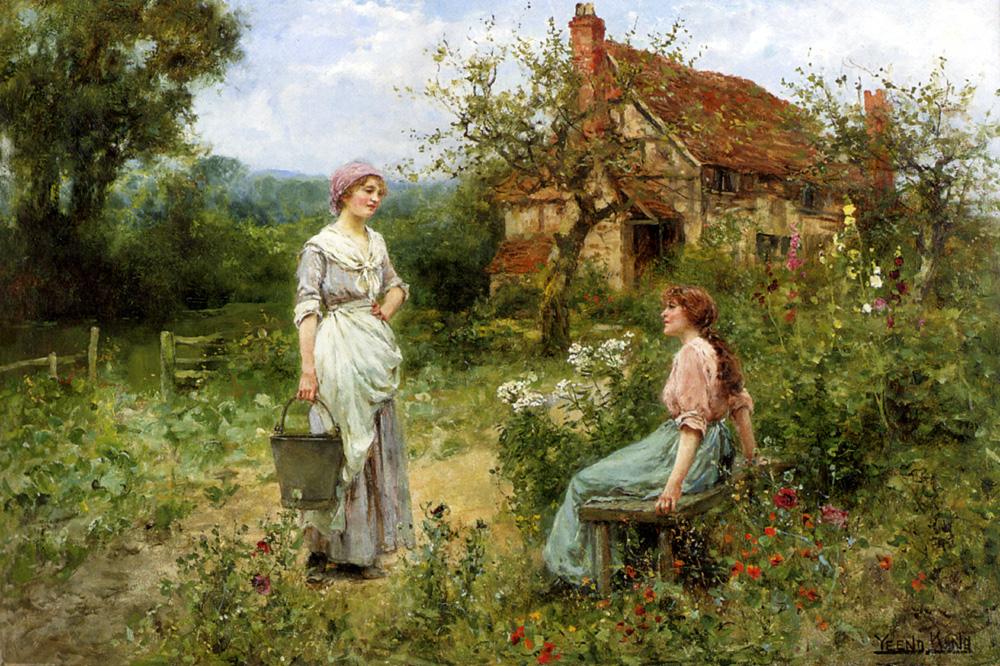 Gossips :: Henry John Yeend King - Village life ôîòî