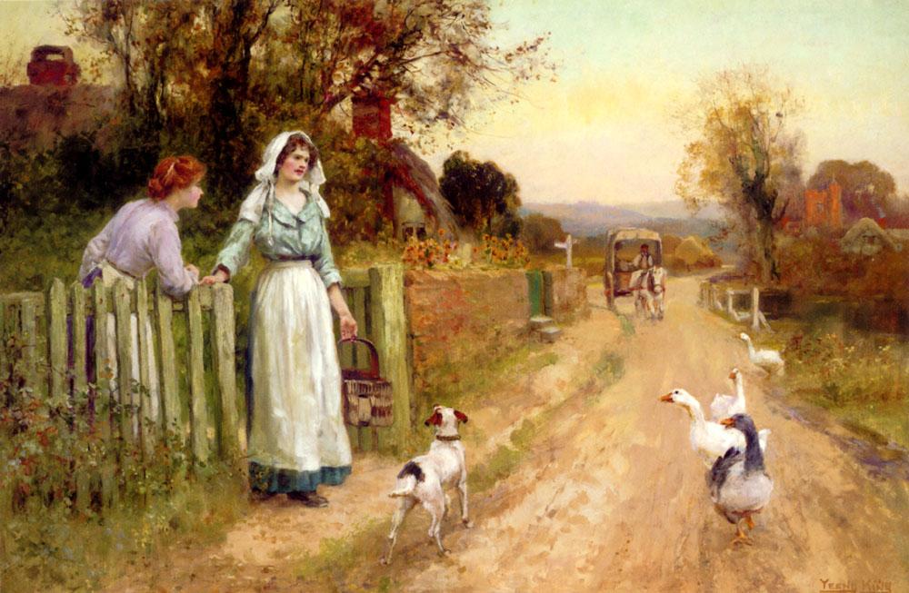 Market Day  :: Henry John Yeend King - Village life ôîòî