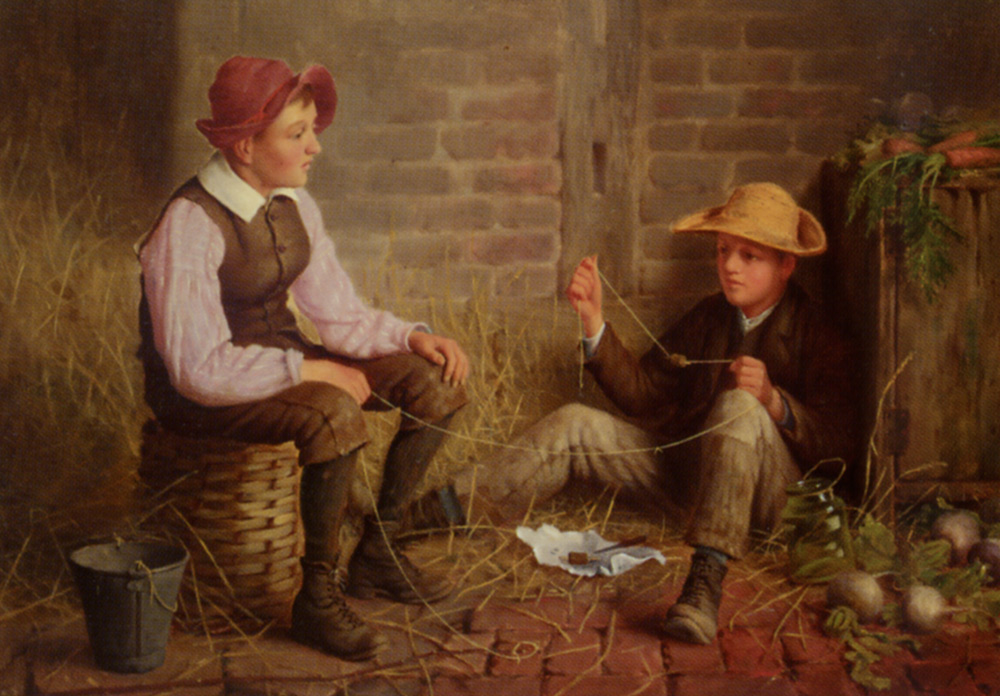 The Young Anglers :: Henry Spernon Tozer - Children's portrait in art and painting ôîòî