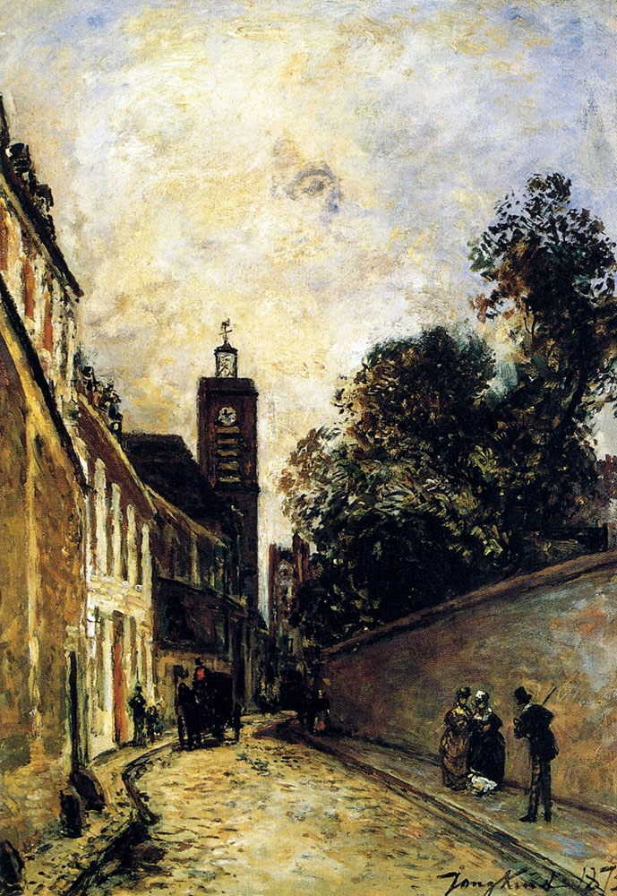 Rue De L'Abbe-De-L'Epee And The Church Of Saint James :: Johan Barthold Jongkind - Architecture ôîòî