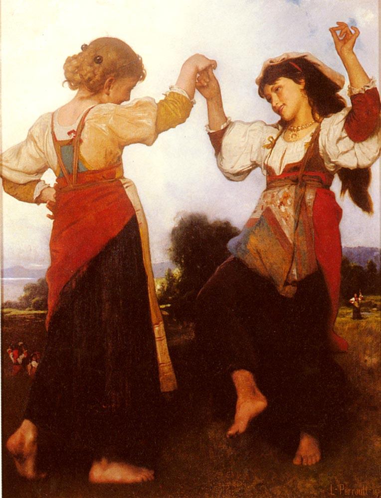 The Tarantella :: Leon Bazile Perrault  - 7 female portraits ( the end of 19 centuries ) in art and painting ôîòî