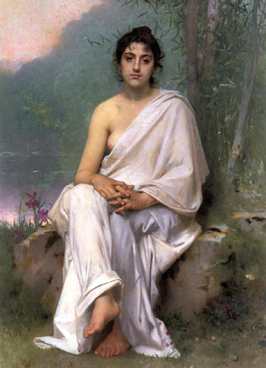 Meditation :: Leon Bazile Perrault - Antique beauties in art and painting ôîòî