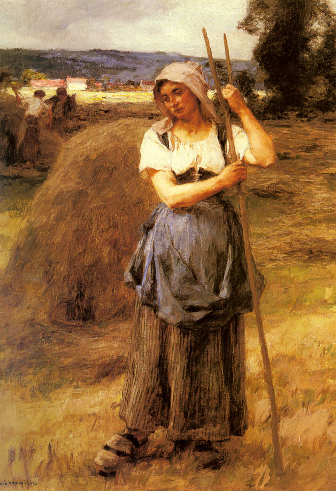 The Tedder girl :: Leon-Augustin L'hermitte - Village life ôîòî
