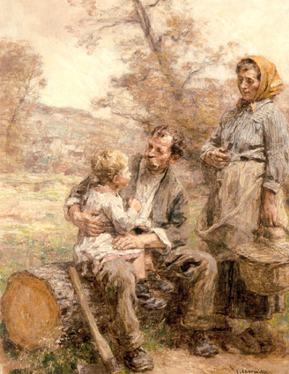 The Lumberjack's Breakfast :: Leon-Augustin L'hermitte - Village life ôîòî