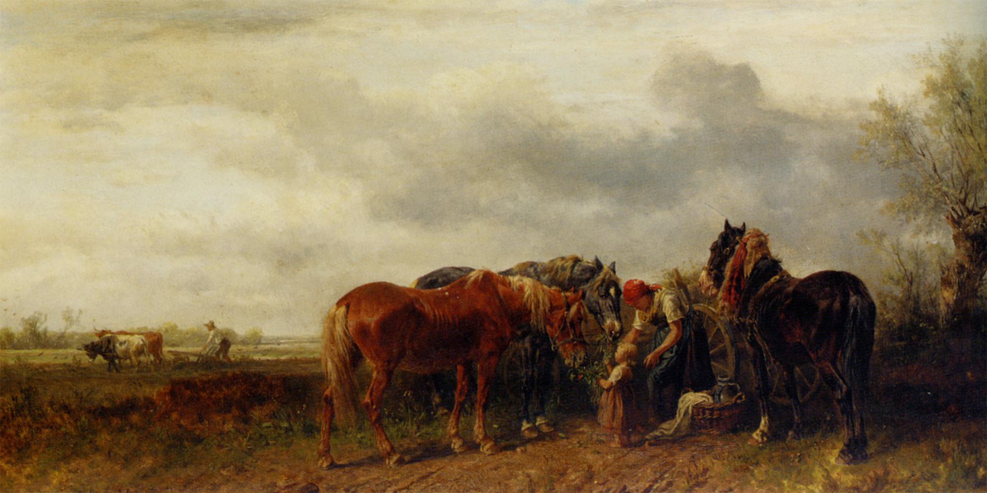 Rest from the work  :: Ludwig Hartmann  - Village life ôîòî