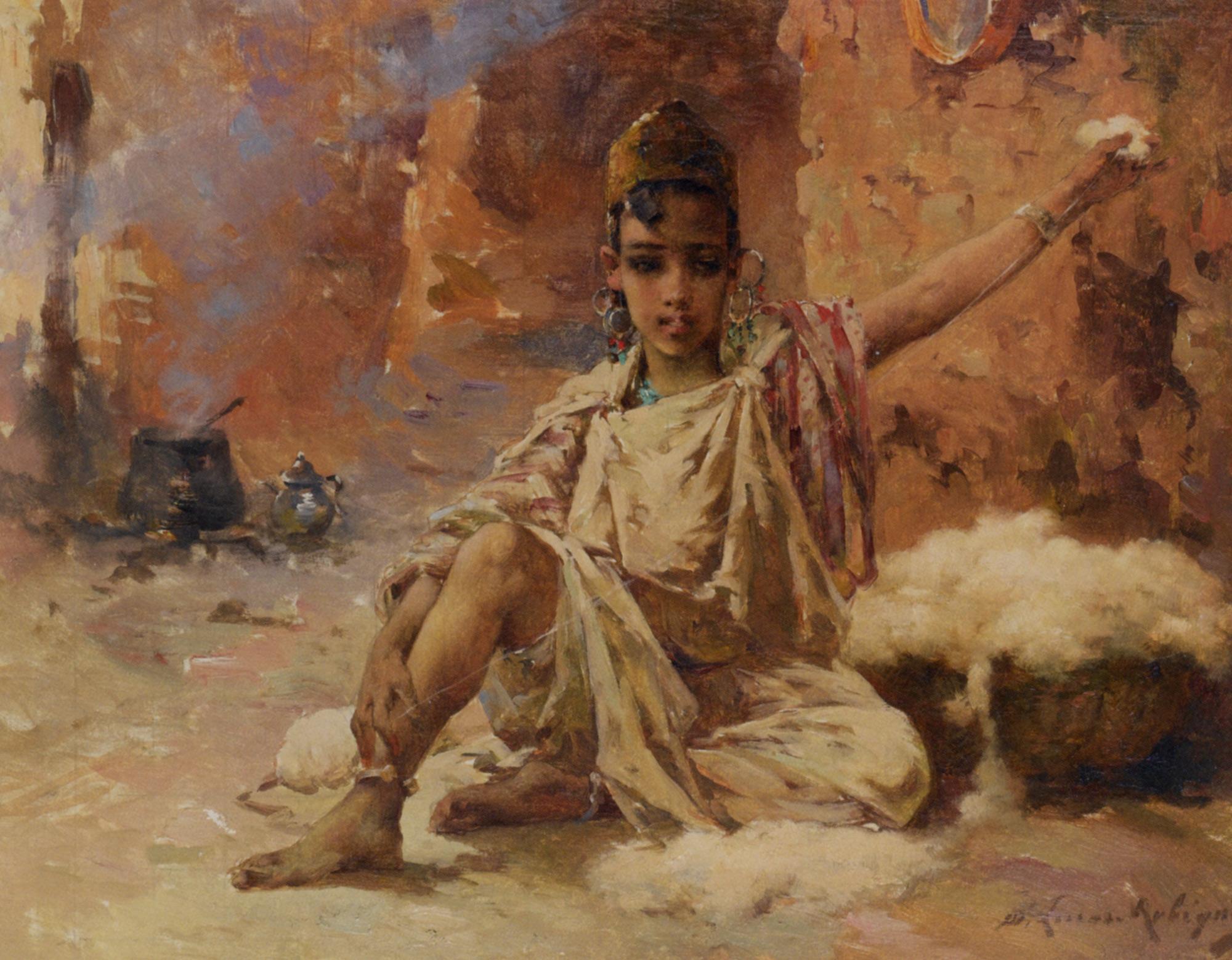 The Cotton Spinner :: Marie Aimme Eliane Lucas-Robiquet - Portraits of young boys ôîòî