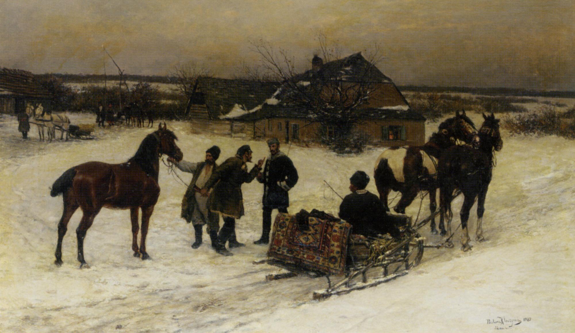 Ready to Depart :: Bodhan Von Kleczynski - Horses in art ôîòî