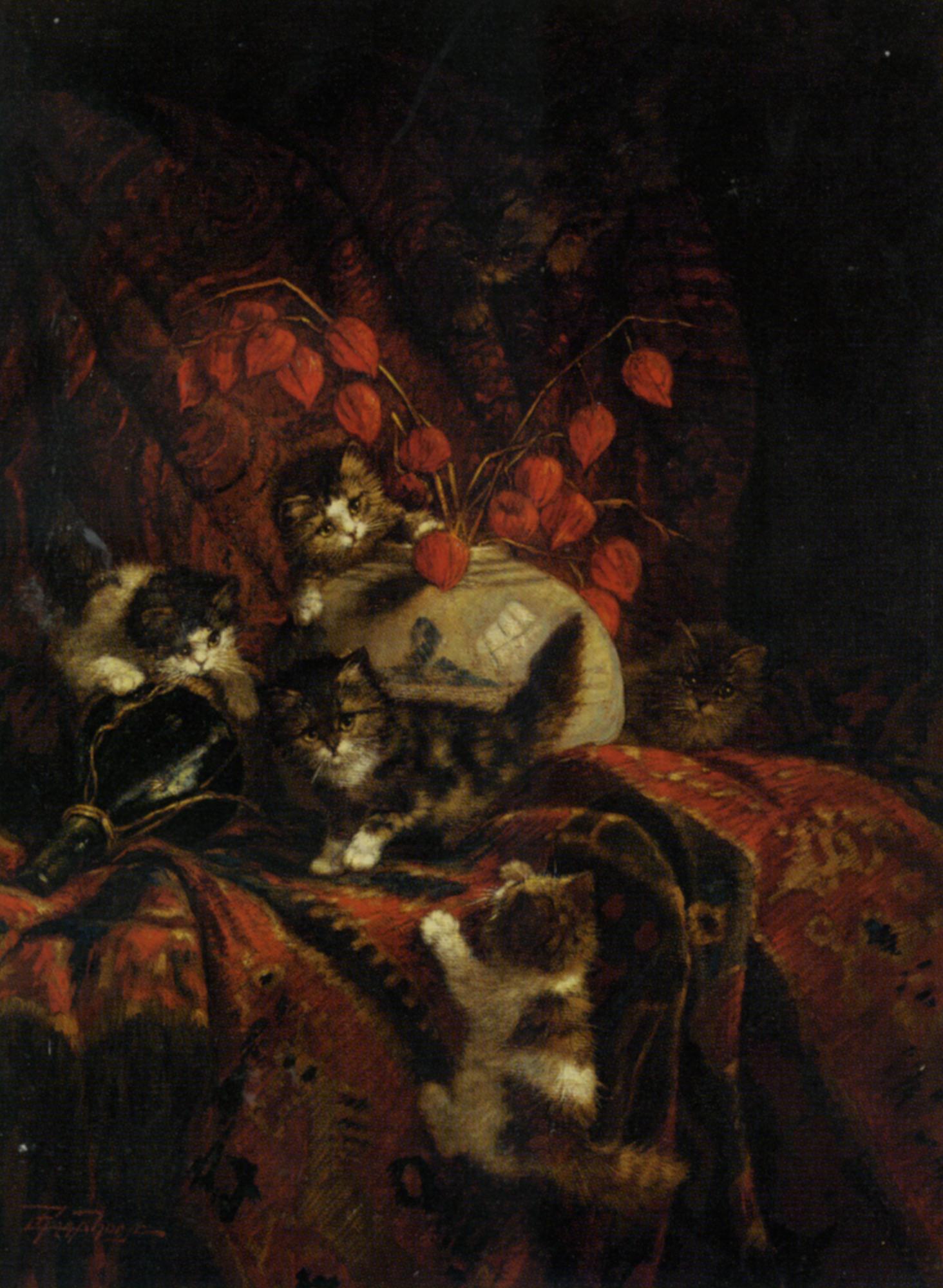 The Kittens at Play :: Cornelis Raaphorst - Cats ôîòî