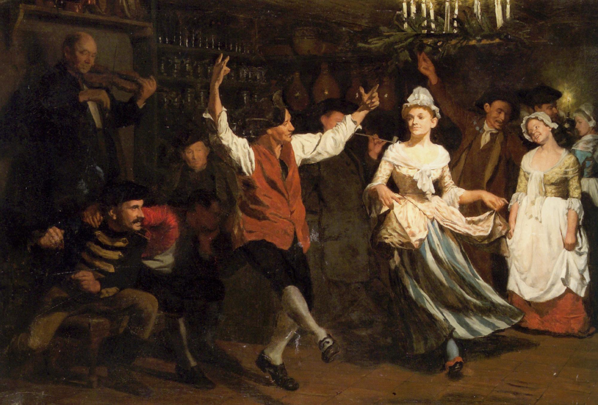 The Candlelight Dance :: Gustav Wilhelm Blom - Balls and receptions ôîòî
