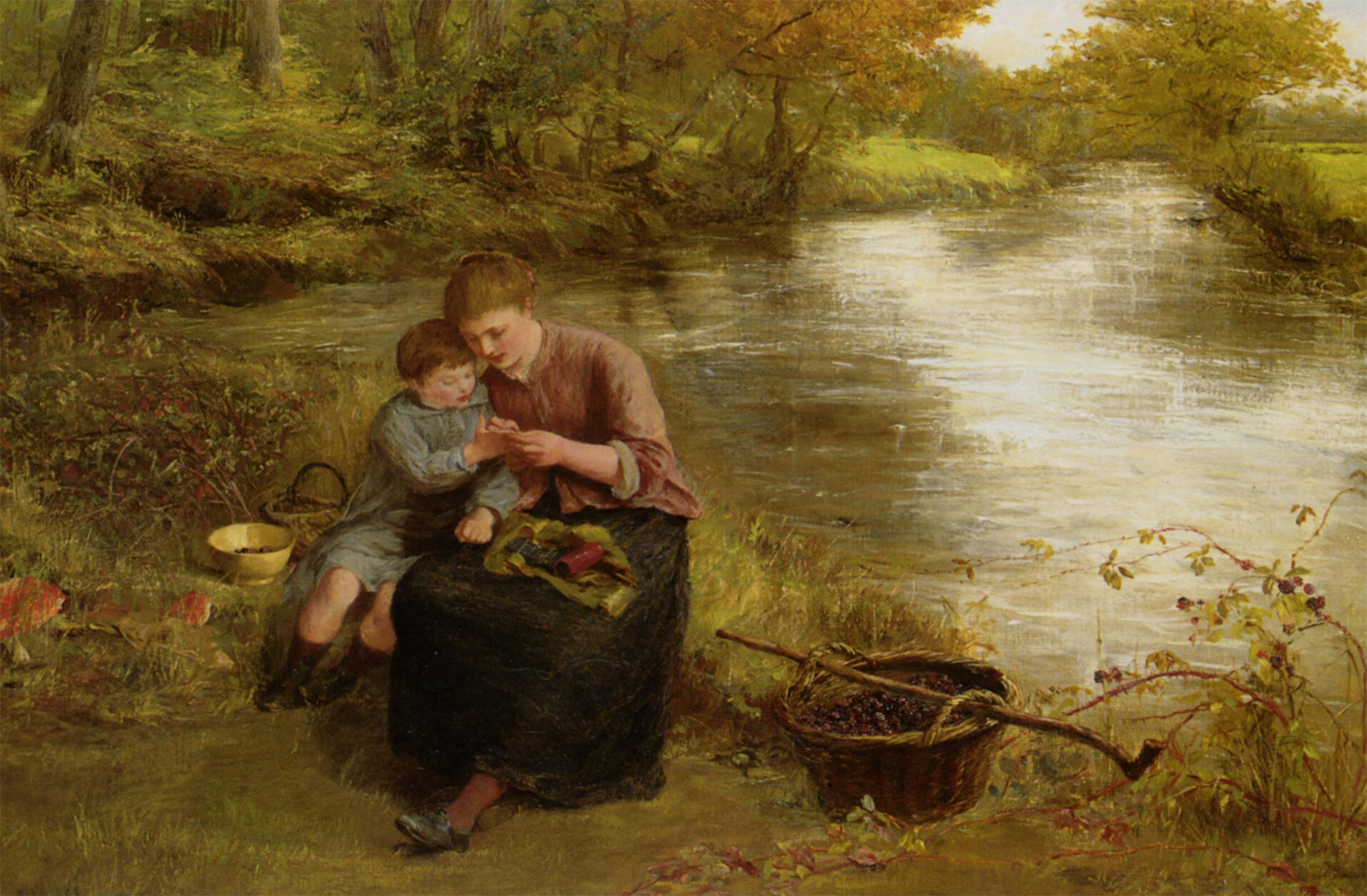 Blackberry Picking :: James Clarke Hook  - Village life ôîòî