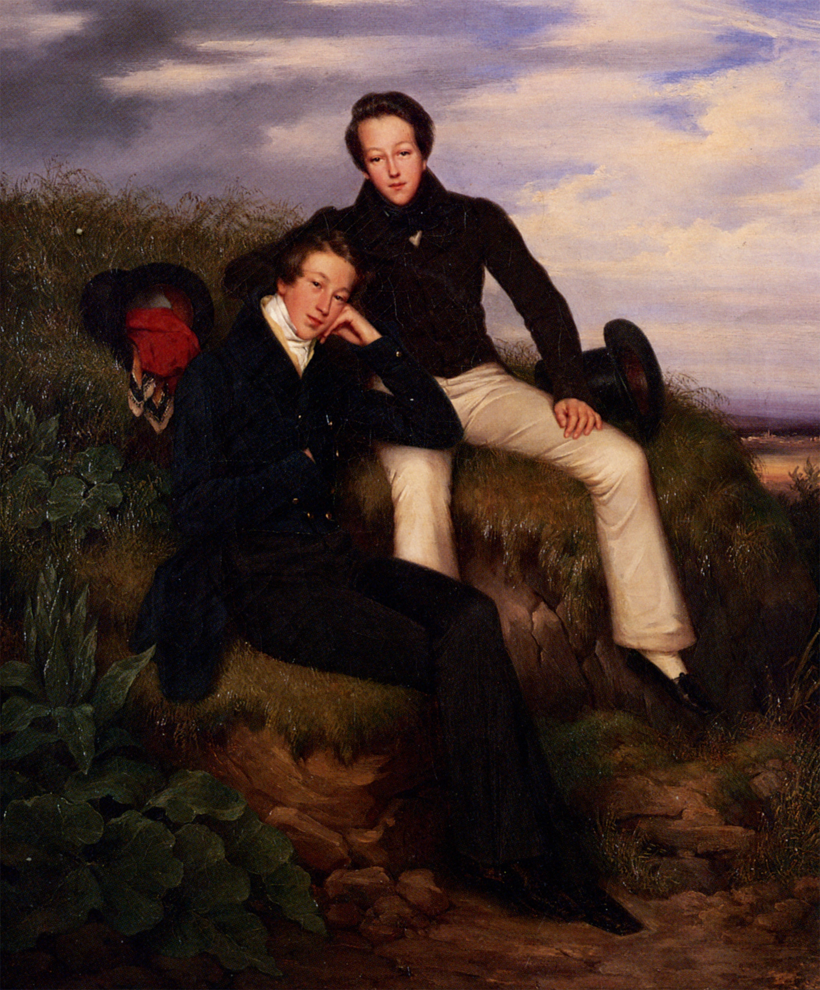 A Day In the Country :: Louis Eugene Coedes - men's portraits 19th century (first half) ôîòî