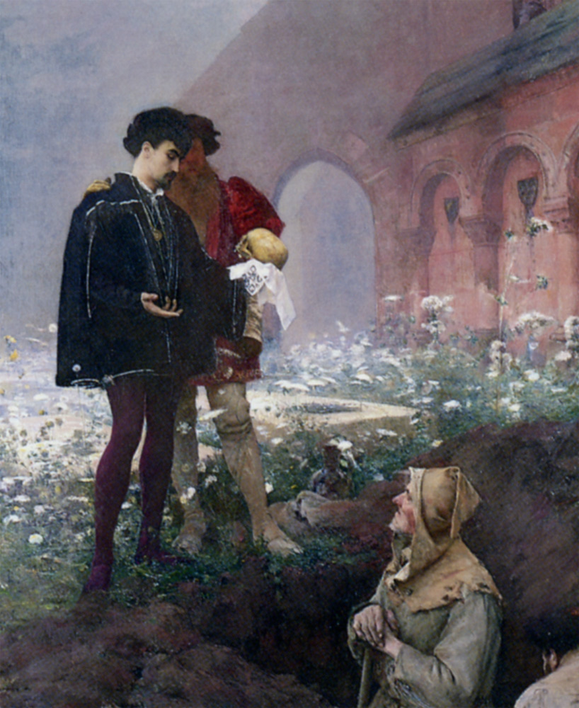 Hamlet et les Fossoyeurs :: Pascal-Adolphe-Jean Dagnan-Bouveret - Art scenes from literary works ôîòî