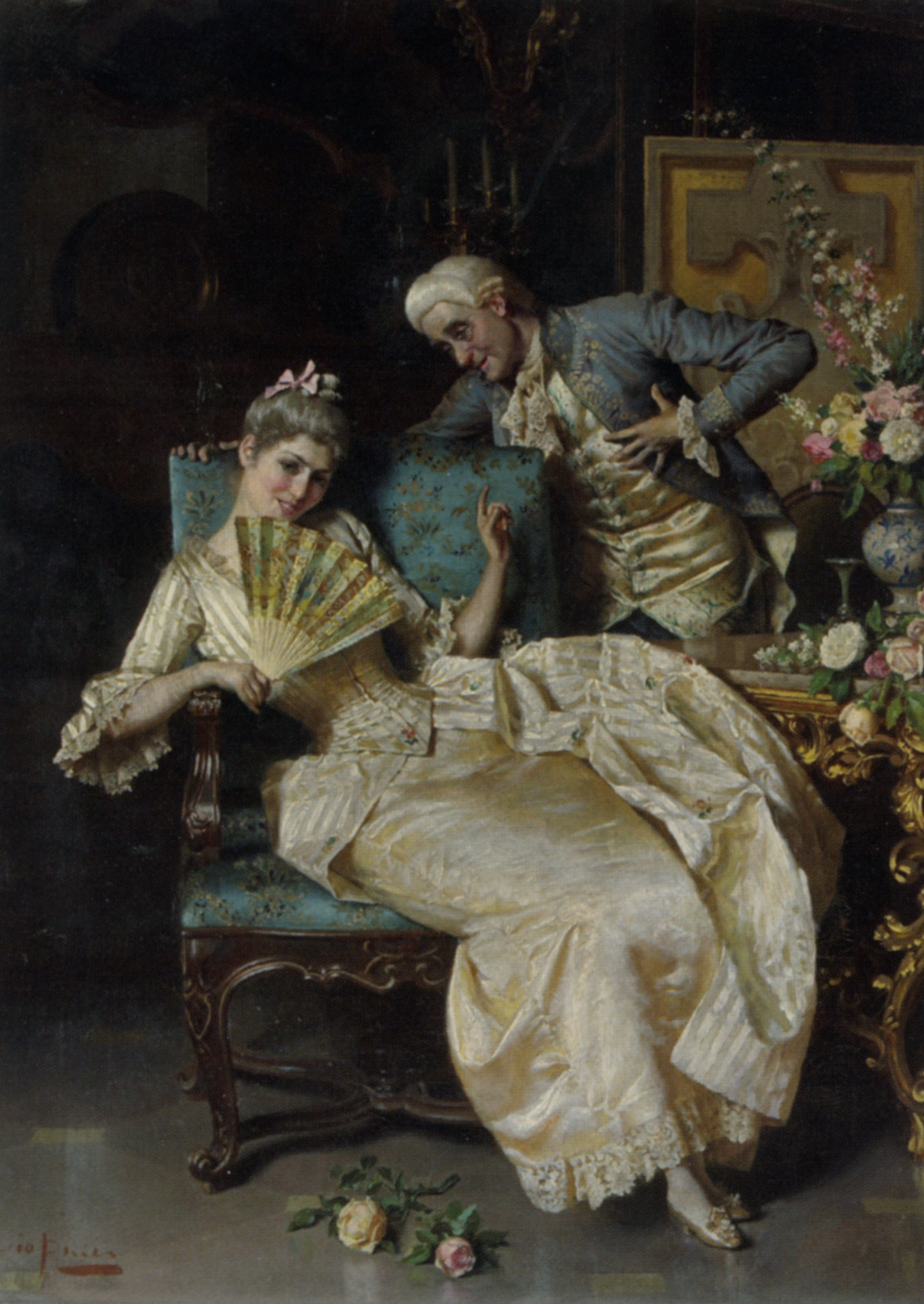 The Temptress :: Pio Ricci - Romantic scenes in art and painting ôîòî