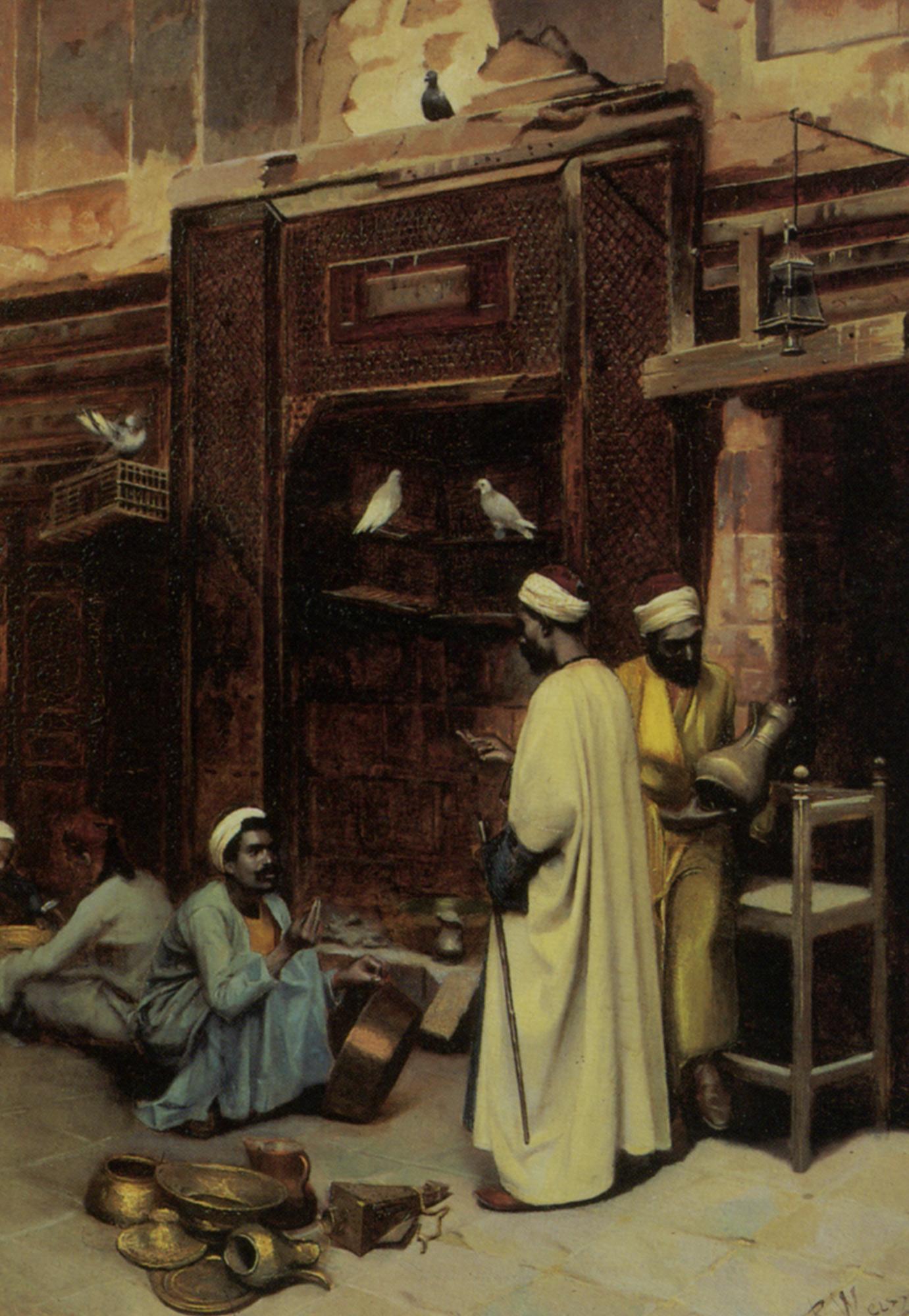 The Walk in Cairo :: Rudolphe Weisse - scenes of Oriental life (Orientalism) in art and painting ôîòî