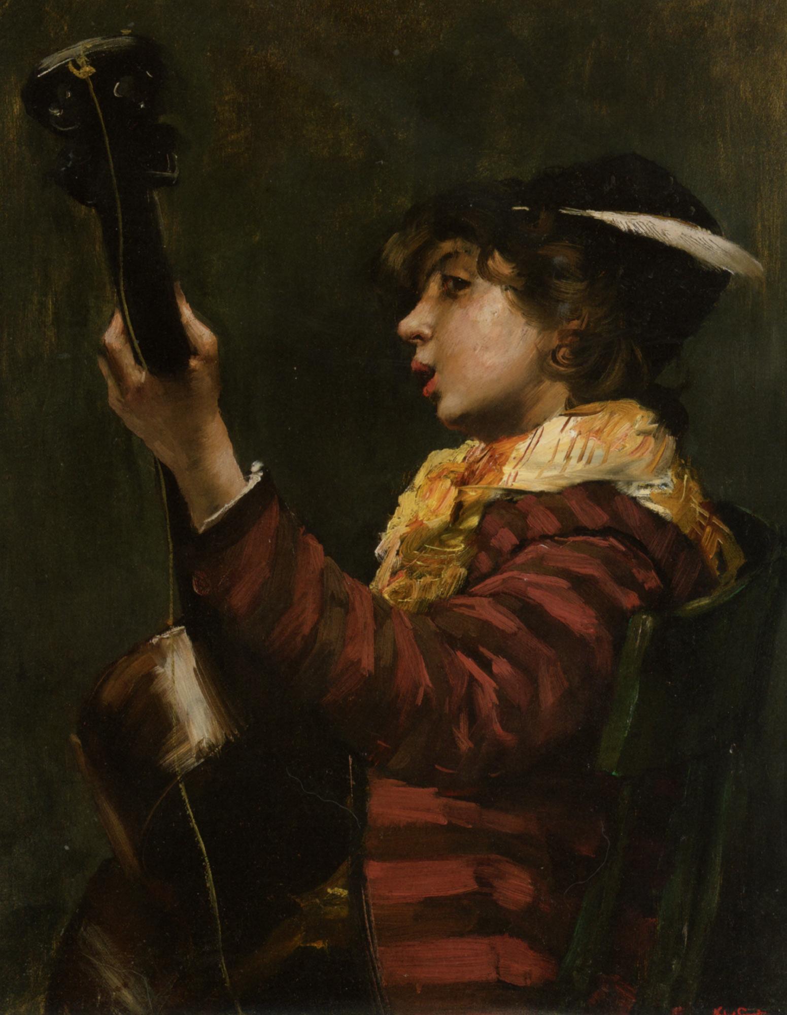 The Guitarist :: Norbert Goeneutte - Portraits of young boys ôîòî