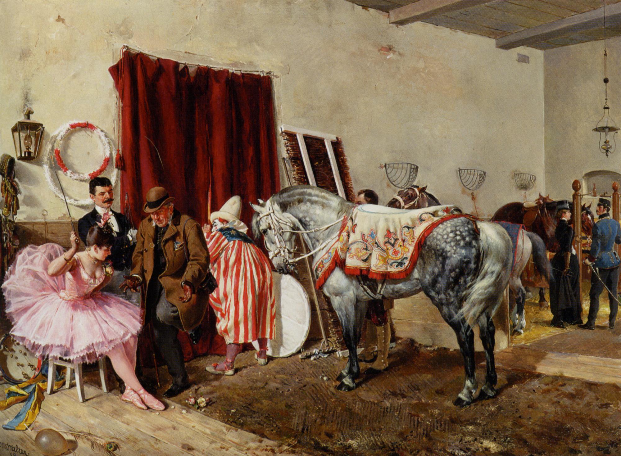 At The Circus :: Ottokar Walter - Interiors in art and painting ôîòî