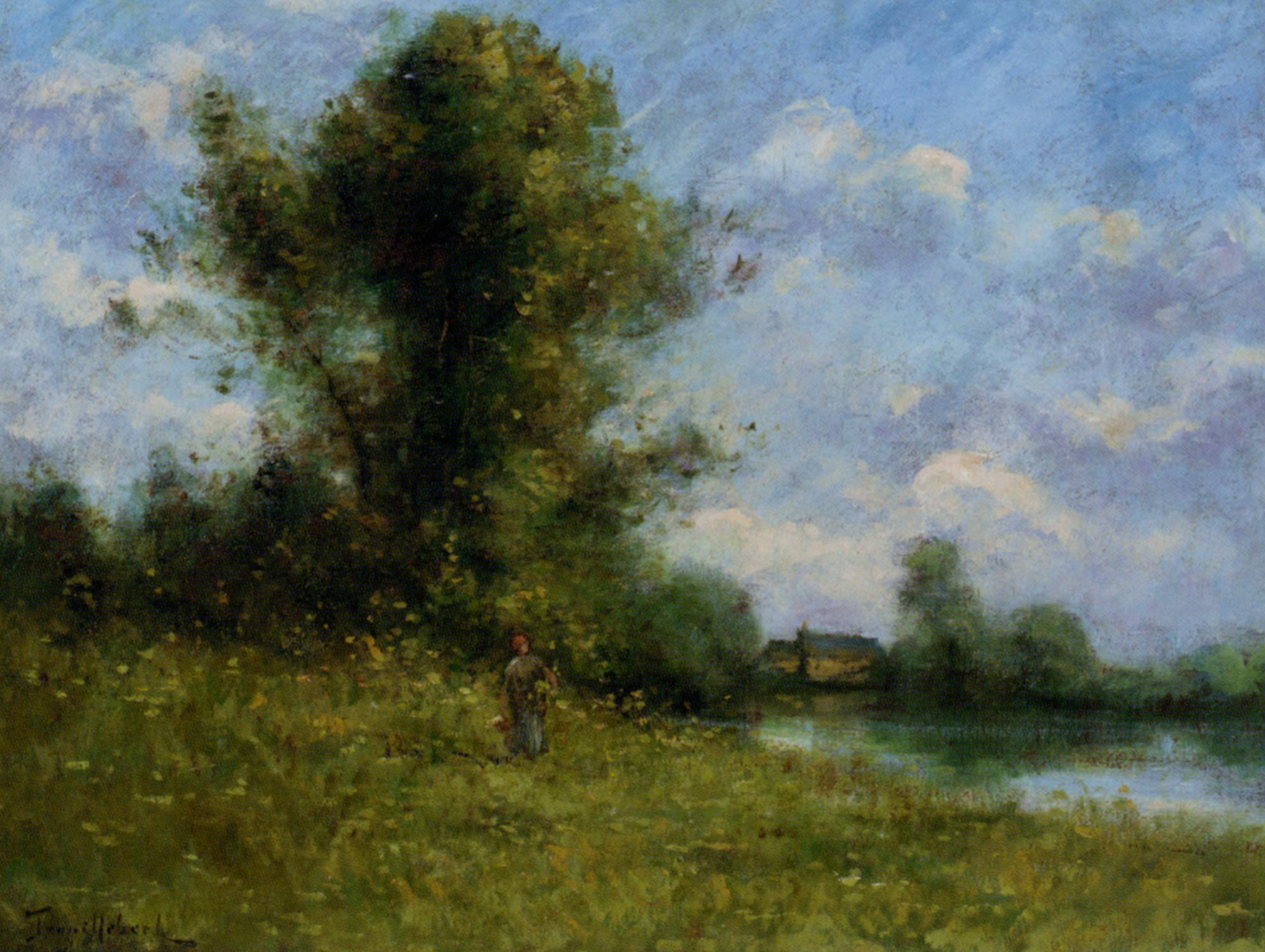 Picking :: Paul Desire Trouillebert - Summer landscapes and gardens ôîòî
