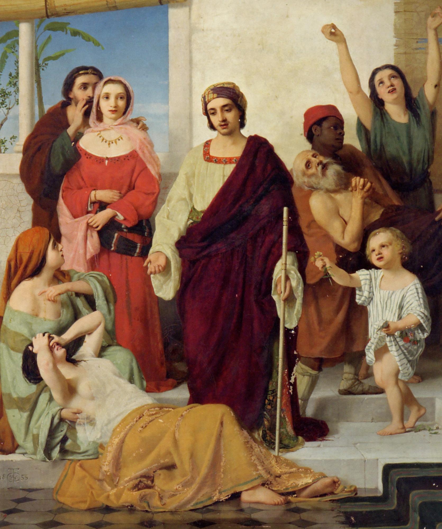 The Prosperous Days of Job :: William Charles Thomas Dobson - Antique world scenes ôîòî