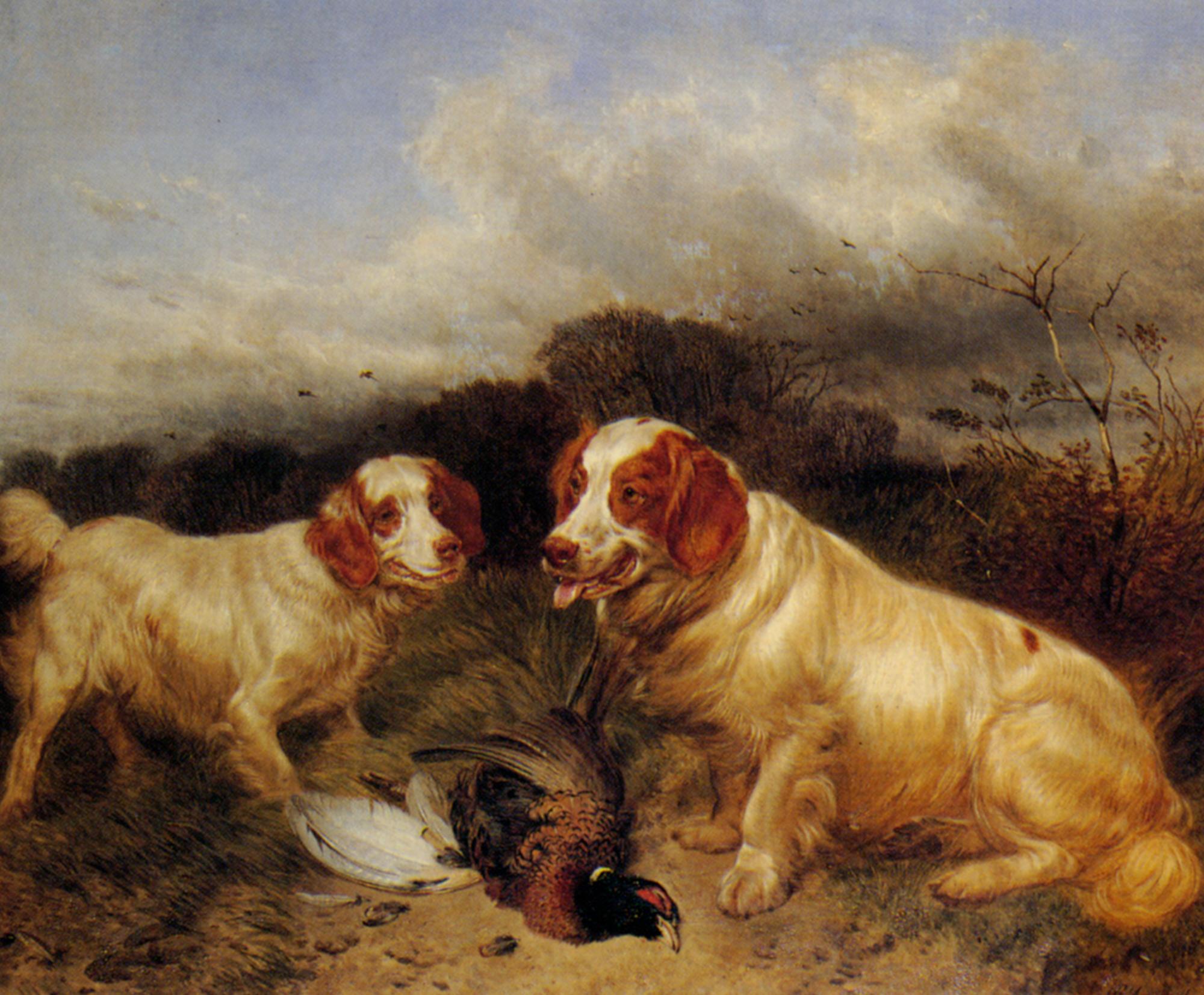 Rover and Ruby :: Richard Ansdell - Hunting scenes ôîòî