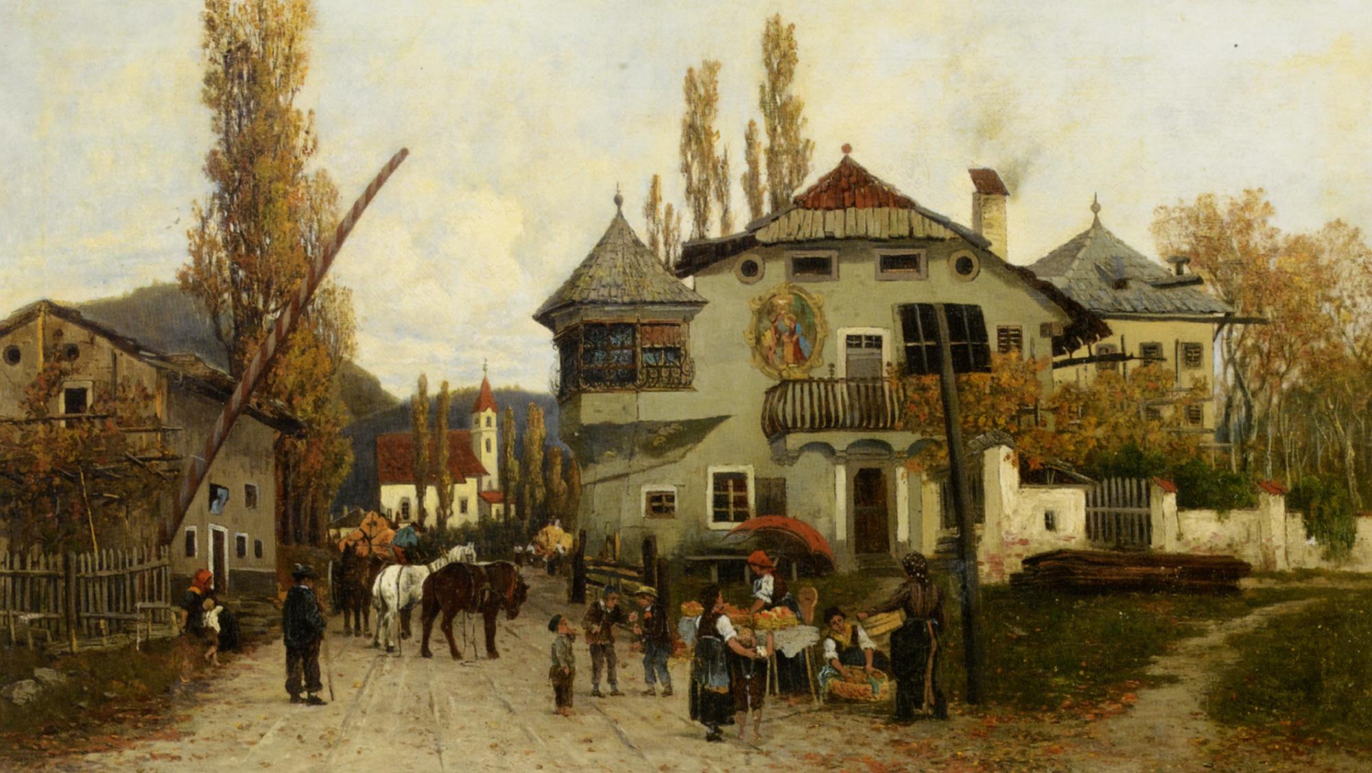 Orange Sellers :: Theodor von Hoermann - Rural houses ôîòî