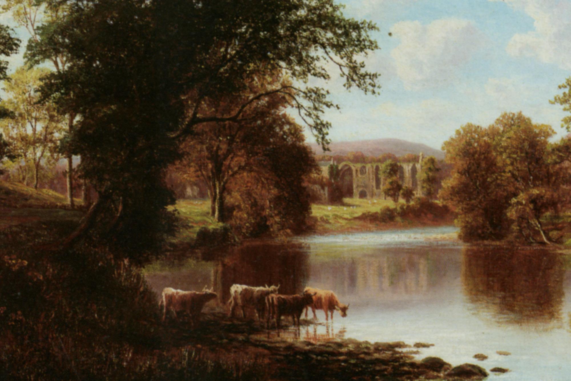 Bolton Abbey :: William Mellor - Landscapes with cows ôîòî