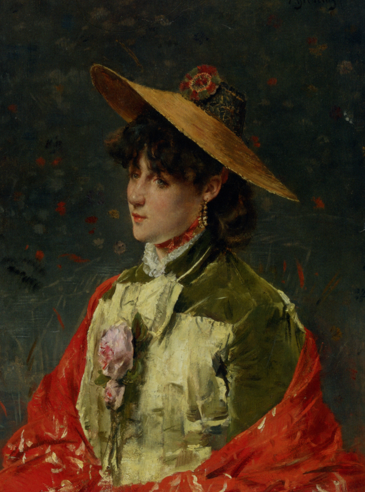 Straw Hat :: Alfred Stevens - 7 female portraits ( the end of 19 centuries ) in art and painting ôîòî