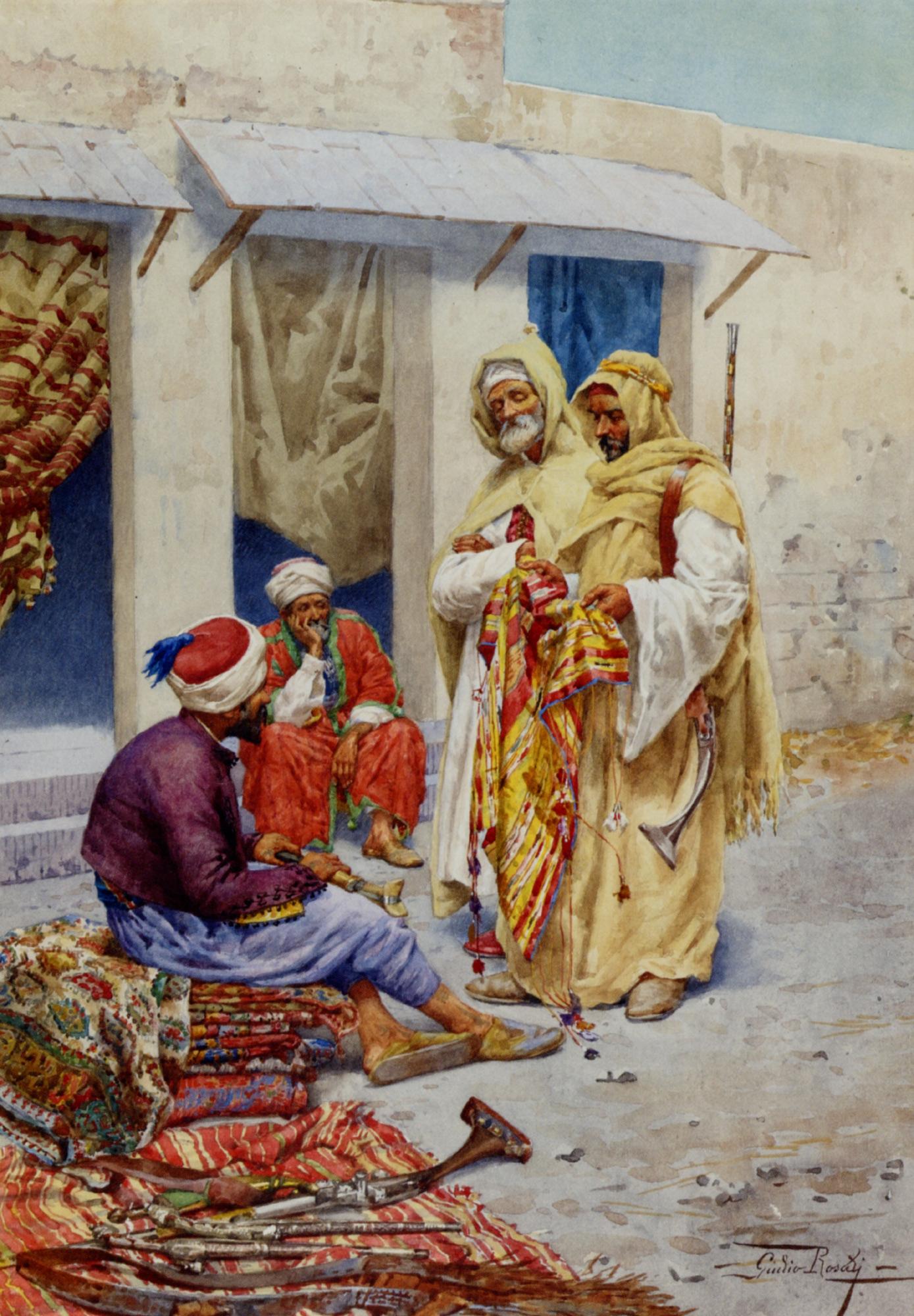 Carpet Seller :: Giulio Rosati - scenes of Oriental life (Orientalism) in art and painting ôîòî